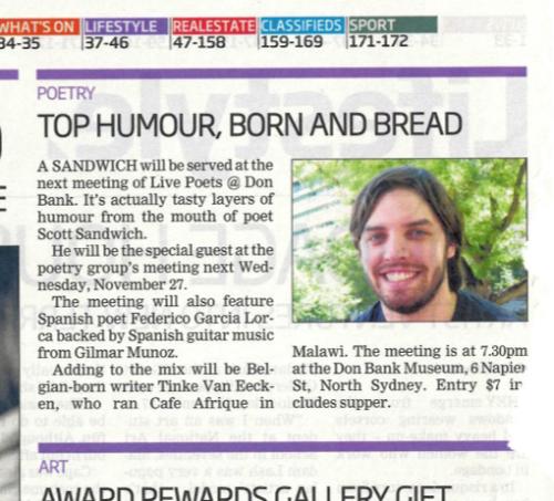 Mosman Daily - Scott Sandwich